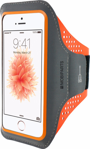 Mobiparts Comfort Fit Sportarmband Apple iPhone 5/5S/SE Oranje Main Image