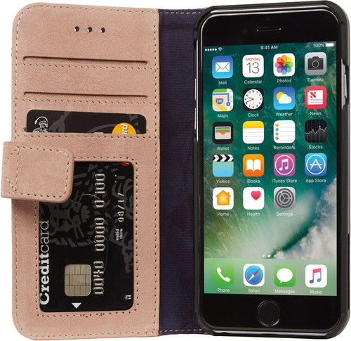 Decoded Leather Wallet Case Apple iPhone 6/6s/7/8 Pink Main Image