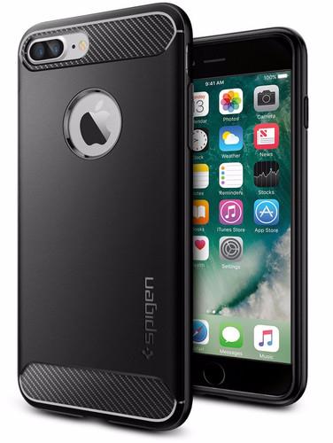 Spigen Rugged Armor Apple iPhone SE Plus / 8 Plus / 7 Plus Back Cover Zwart Main Image
