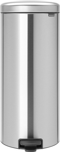 Brabantia NewIcon Pedal Trash Can 30 Liters Matte Stainless Steel Main Image