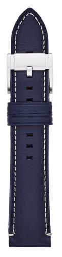 Fossil Q 22 mm Lederen Horlogeband Blauw Main Image