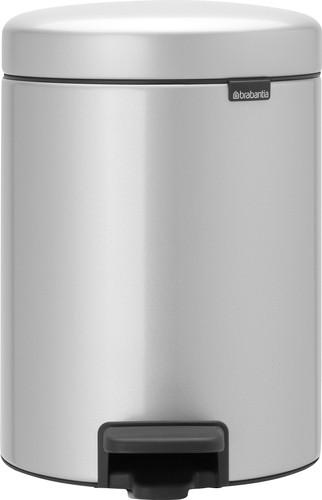 Brabantia NewIcon Pedaalemmer 5 Liter Metallic Grijs Main Image