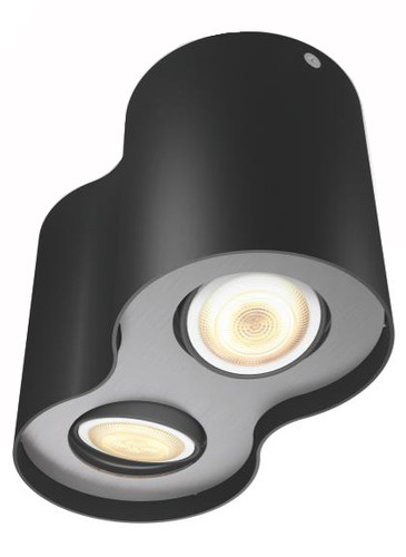 Philips Hue Pillar 2-Spot Zwart met Dimmer Main Image