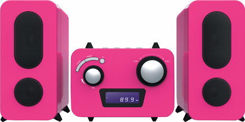Bigben Microset Radio/CD Player Pink Main Image