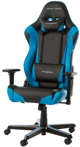 DXRacer RACING Gaming Chair Zwart/Blauw Main Image