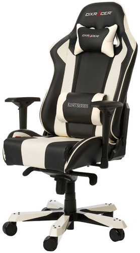 DXRacer KING Gaming Chair Zwart/Wit Main Image