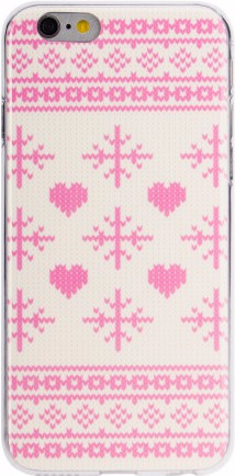FLAVR Case Ugly Xmas Sweater Apple iPhone 6/6s Roze Main Image