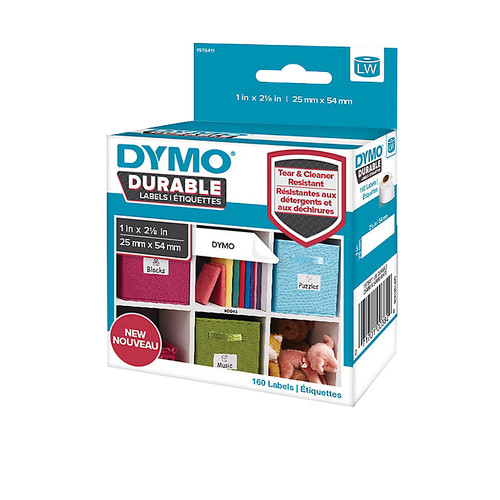 Dymo LW Durable Label White 160 Labels (25 mm x 54 mm) Main Image