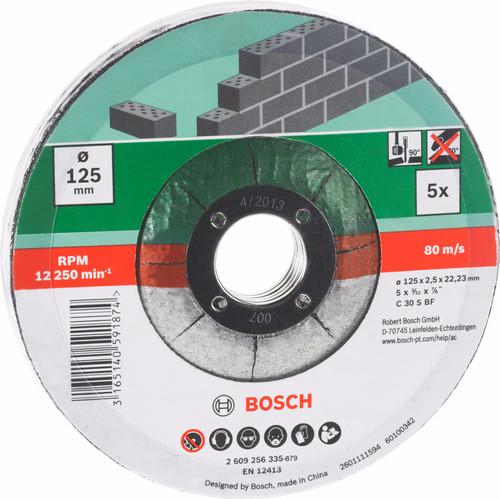 Bosch Slijpschijf Steen 125 mm 5 stuks Main Image