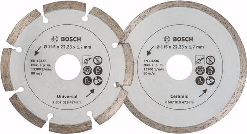 Bosch Diamantschijf 115 mm 2 stuks Main Image