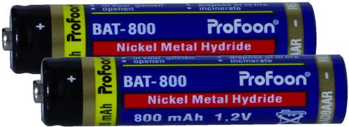 Profoon Oplaadbare AAA NiMH Batterijen 800mAh 2-pack Main Image