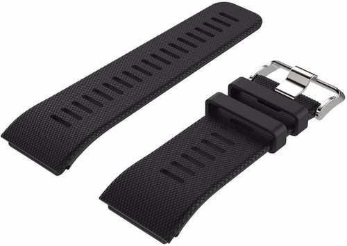 Just in Case Silicone Watch Strap Garmin Vivoactive HR Black Main Image