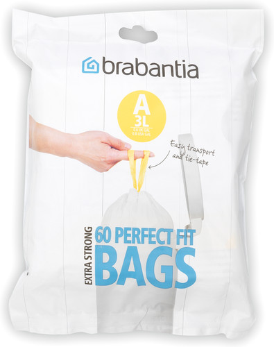 Brabantia Garbage bags Code A - 3 Liter (60 pieces) Main Image