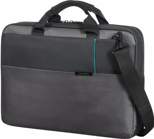 "Samsonite Qibyte Shoulder Bag 15.6"" Anthracite Main Image"