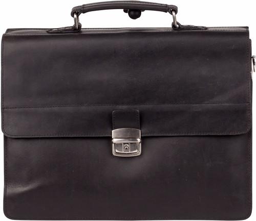 Burkely Vintage Dean Briefcase 3 Zwart Main Image