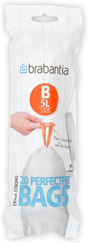 Brabantia Waste Bag Code B - 5 Liter (20 pieces) Main Image