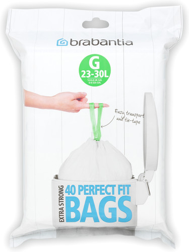 Brabantia Trash Bag Code G - 23-30 Liters (40 units) Main Image