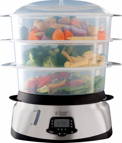Russell Hobbs MaxiCook 3 Tier Digital Food Steamer 23560-56 Main Image
