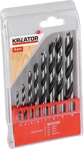 Kreator Wood drill set 8-parts 3-10mm Main Image