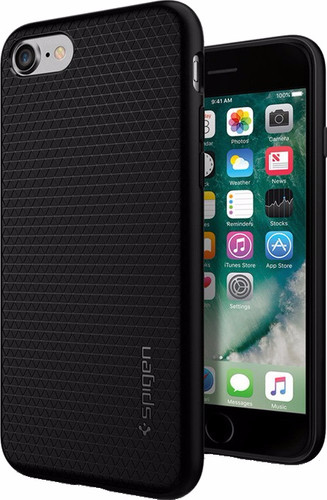 Spigen Liquid Armor Apple iPhone SE 2 / 8 / 7 / 6 / 6s  Zwart Main Image