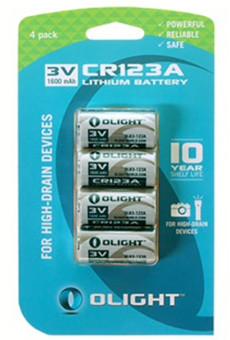 Olight CR123A 4-pack Batterij Main Image