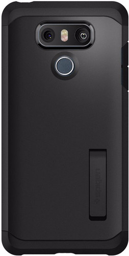 new arrival 2bd41 831f9 Spigen Tough Armor LG G6 Back Cover Black