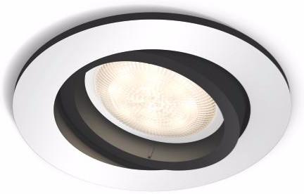 Philips Hue Milliskin Aluminium Rond Inclusief Dim Switch Main Image