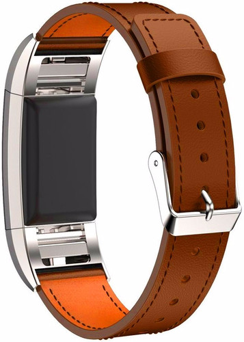 Just in Case Leather Watch Strap Fitbit Charge 2 Light Brown Main Image