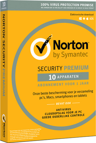 Norton Security Premium 2018 | 10 Apparaten | 1 Jaar Main Image