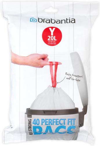 Brabantia Vuilniszakken 45 Liter.Brabantia Vuilniszakken Code Y 20 Liter 40 Stuks