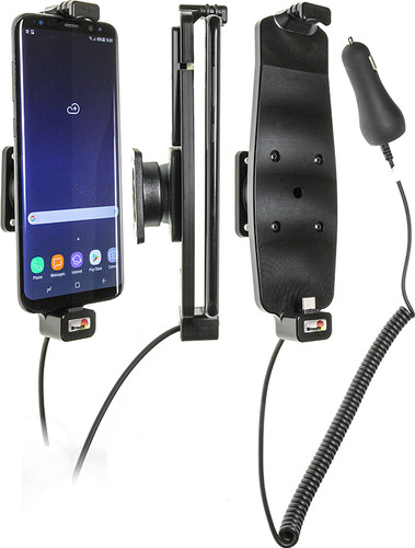 Brodit Holder Samsung Galaxy S8/S9 Plus with charger