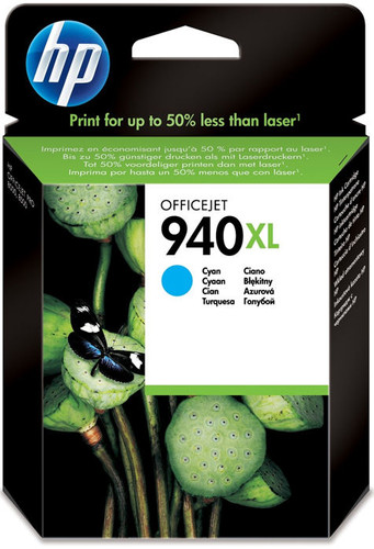 HP 940 Cyan XL Ink Cartridge (blauw) C4907AE Main Image