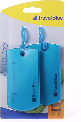 Travel Blue Jelly ID Tag Blauw Main Image
