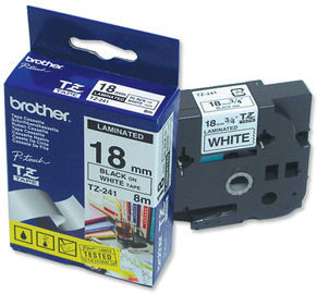 Brother TZ-241 Label Black on White (18 mm x 8 m) Main Image