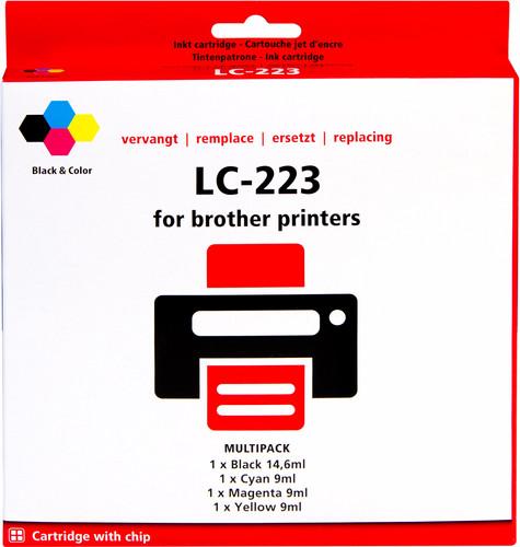 Pixeljet LC-223 4-Kleuren Pack voor Brother printers Main Image