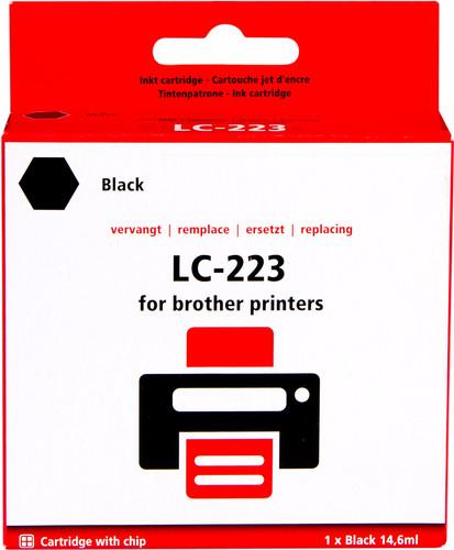 Pixeljet LC-223BK Cartridge Zwart voor Brother printers Main Image