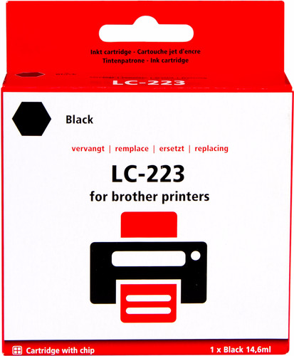 Pixeljet LC-223BK Cartridge Black for Brother printers Main Image