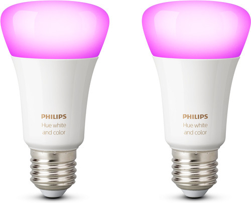 Philips Hue White and Color E27 Duopack Main Image
