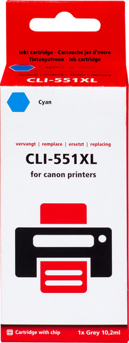 Pixeljet CLI-551XL Cyaan voor Canon printers (6444B001) Main Image