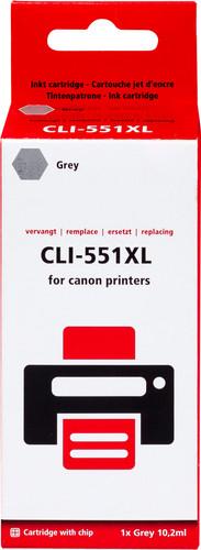 Pixeljet CLI-551 XL Grijs voor Canon printers (6447B001) Main Image