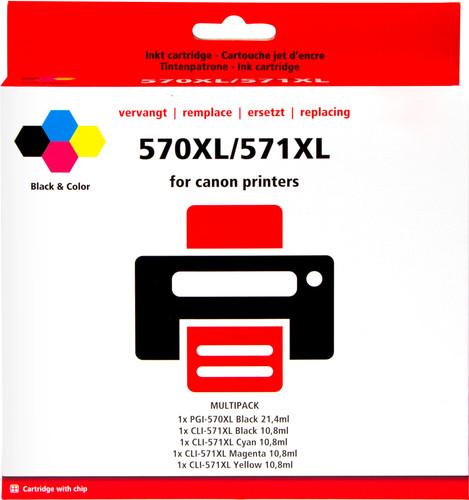 Pixeljet PGI-570/CLI-571 XL 5 Colors for Canon printers (0372C004) Main Image