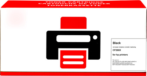 Own brand 80X Toner Black XL for HP printers (CF280X) Main Image