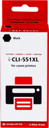 Pixeljet CLI-551XLBK Zwart voor Canon printers (6443B001) Main Image