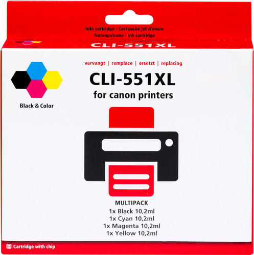 Pixeljet CLI-551XL 4-Color Pack for Canon printers (6509B009) Main Image