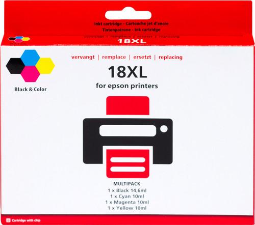 Pixeljet 18 XL 4-Color Pack for Epson (C13T18164010) Main Image