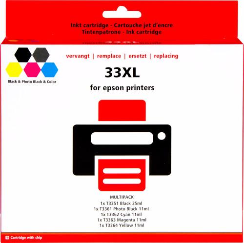 Pixeljet 33 XL 5-Kleuren Pack voor Epson printers (C13T33574010) Main Image