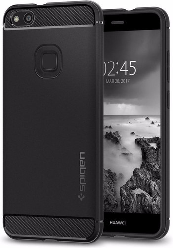 Spigen Rugged Armor Huawei P10 Lite Back Cover Black Main Image