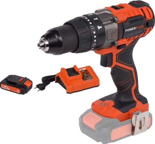 Powerplus Dual Power POWDP1520 + Acculader + Accu 20V 1,5 Ah Main Image