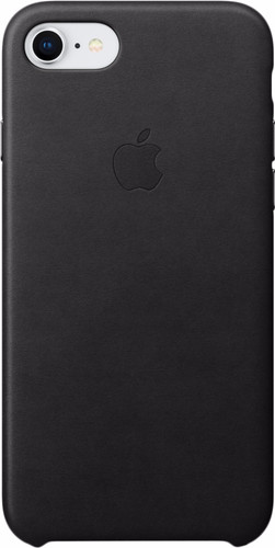 Apple iPhone 7/8 Leather Back Cover Black Main Image