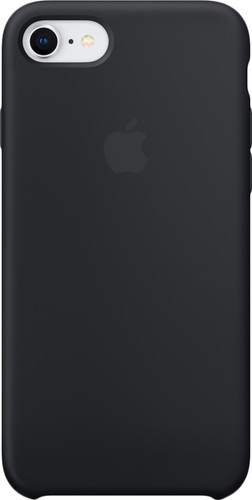 Apple iPhone 7/8 Silicone Back Cover Zwart Main Image
